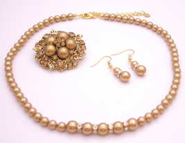 Looking For Harvest Color Jewelry Fine Handcrafted Swarovski Pearls - $40.68