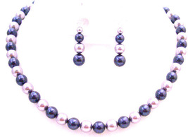 Find The Perfect Lapis & Wisteria Pearls Most Eye Catching Jewelry Set - $39.38