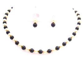 Swarovski Golden Black Pearls FashionJewelryForEveryone.com - $34.18