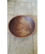 """German wood dough bowl c.1900 attributed to Thurnauer 14 1/2""""x13 1/4"""" heavy - $99.00"""