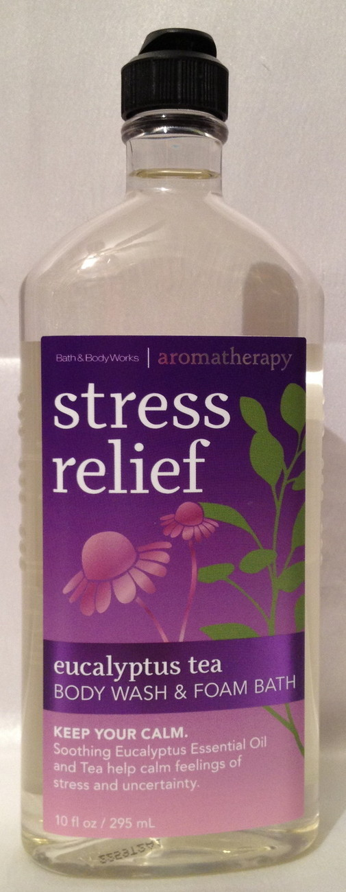 Bath & Body Works Aromatherapy EUCALYPTUS TEA Stress Relief Body Wash & Foam Bat