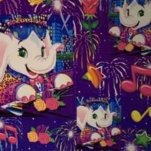 RARE Flawless Vintage Lisa Frank Elephant John S369 Full Sticker Sheet image 2
