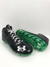 Under Armour Men's Spine Nitro Clutchfit Black Football Cleats 4D Foam size 14 - $44.55