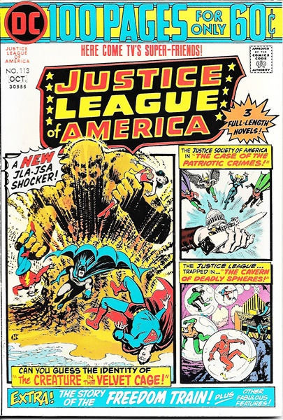 Primary image for Justice League of America Comic Book #113, DC Comics 1974 VERY FINE-