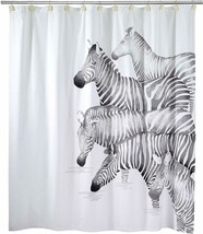 Avanti Linens 100% Cotton Shower Curtain, Zebra Design - $19.78