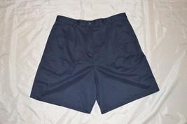 Men's Izod Club Dress Shorts ~ Dark Blue ~ Sz 36 ~ Pleated ~ Polyester - $11.02