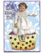 ACEO ATC Art Card Collage Original Girls Ladies Cupcake Cake Eat Dessert... - $5.00