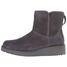 UGG Women's Grey Suede Sheepskin Kristin Treadlite Snow Winter Boots New in Box image 2