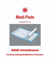 Adult Incontinence Pads The Medi-Pad Economy 3-Ply Incontinence Pads/Pro... - $28.95+
