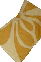 Pottery Barn 16 x 26 Cream & Golden Yellow Floral Embroidered Pillow Cover - $39.57