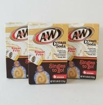3 A&W Cream Soda Singles 2 Go Drink Mix Sugar Free 12 Sticks Total Exp 2... - $24.18