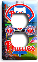 Philadelphia Phillies Baseball Team Outlet Wall Plate Covers Room Bedroom Decor - $8.99