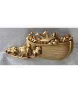 AJC Delightful Golden Noah's Ark & Animals Broo... - $19.95