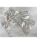 Elegant Lisner Mid Century Modern Silvery Flowe... - $15.95