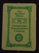 1972 Milton Bradley Seance Game - 100 SHARES TRANSYLVANIA CO. Card ONLY - $15.00