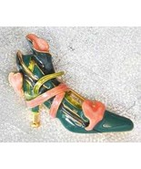 Fantastic Kenneth Jay Lane Enamel Shoe Brooch - $29.95