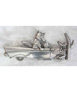Amusing Unusual JJ Coyote in Car that Crashed into a Cactus Brooch 1980s... - $34.60