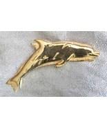 Elegant JJ Golden Dolphins Brooch 1980s vintage... - $19.95