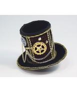 SteamPunk Cosplay Mini Black Velvet Gear & Chain Victorian Cocktail Top ... - $10.69