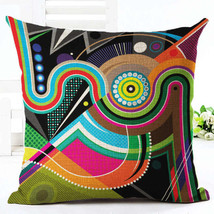 Decorative Pillow Throw Cushion CoverCase Colorful Geometric Woven Cotto... - $5.90