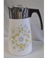 VINTAGE Corelle Corning Floral Bouquet 9 Cup Percolator - $39.99