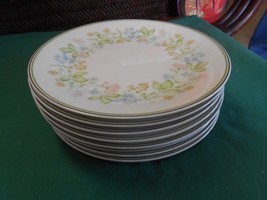 "Beautiful NORITAKE ""Essence"" Set of 7 DESSERT-BREAD Plates..6.25"" diameter - $31.35"