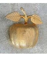 Accessocraft 60s Stunning Goldtone Apple Brooch - $19.95