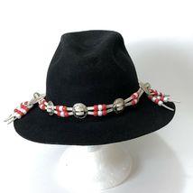 Vtg Western Outback Hat Mens Black Wool Felt Indiana Jones Dorfman Pacific USA  image 7