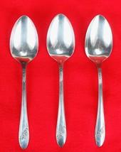 3X Dinner Table Spoons Oneida Queen Bess II Silverplate 1946 Tudor Flatware - $27.72