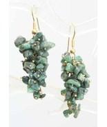 Bohemian 80s Gorgeous Jade Nugget Earrings - $22.00