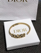 AUTH Christian Dior 2019 J'ADIOR AGED GOLD BRACELET CUFF BANGLE image 6