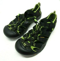 Youth Size 6 Keen Sandals, Pre-owned Black & Green - $26.68