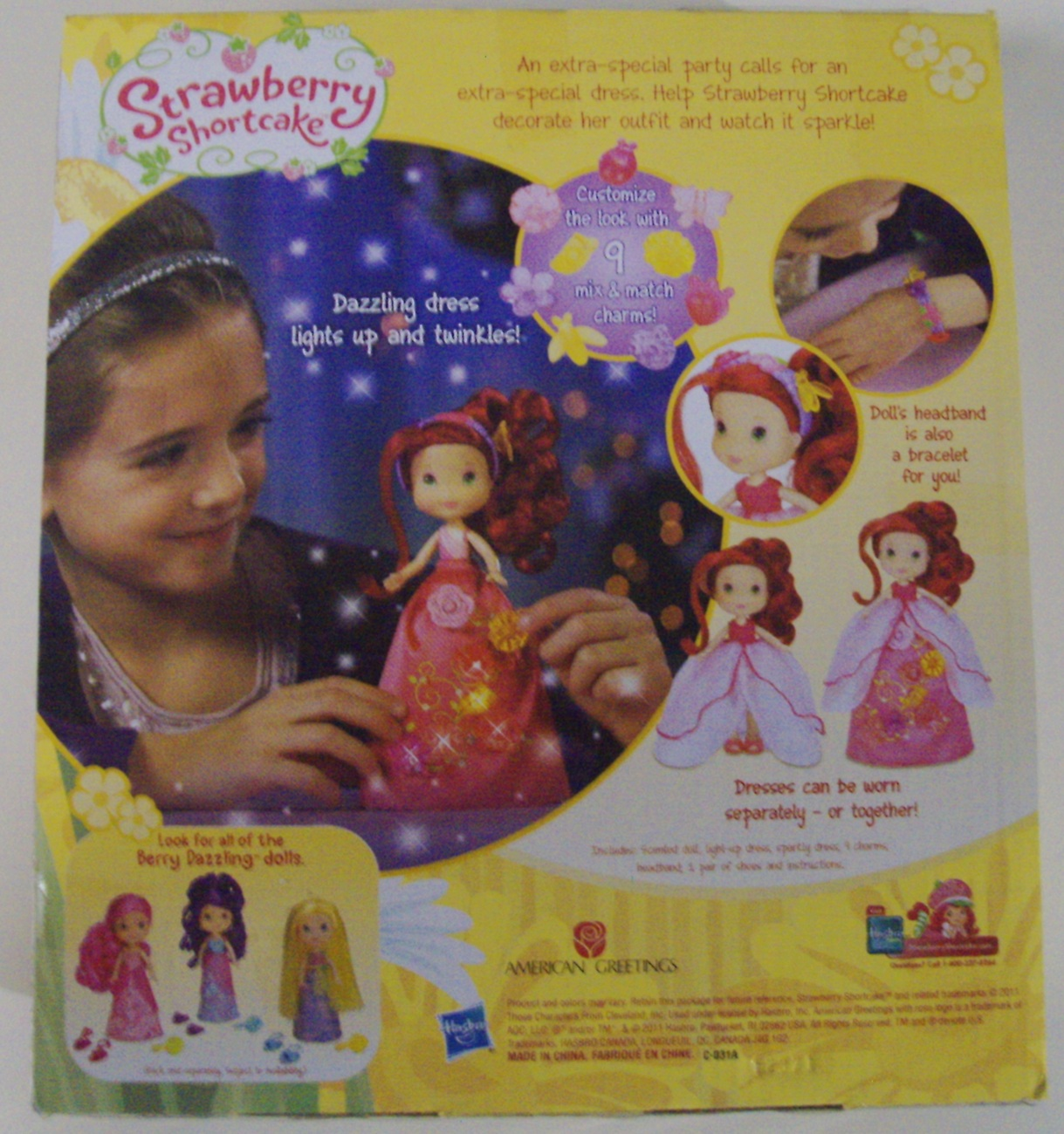 Strawberry Shortcake Berry Sparkling Charms doll - New
