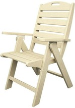 POLYWOOD Outdoor Patio Dining Chair Nautical Highback Sand Plastic - $313.95