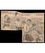 Ken Norton vs Ali Sports Cartoon Newspaper Clipping 1970s Vintage Boxer ... - $8.99