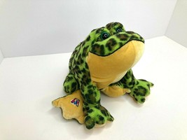 Webkinz HM114 Bullfrog Ganz Plush Stuffed Animal Frog Toad Green Brown No Code - $7.67