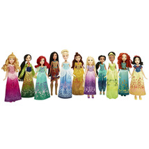 Disney Princess Shimmering Dreams Collection 11 Doll Set + Shoes Outfits... - $123.02