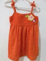 NWT Janie And Jack Girls Orange Knit Flower Gauze Tropical Traveler Dres... - $21.99