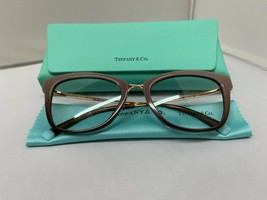 Tiffany & Co TF2186 8277 Women's Brown Rx Eyeglass Frames 52-18-140 Brand New - $116.09