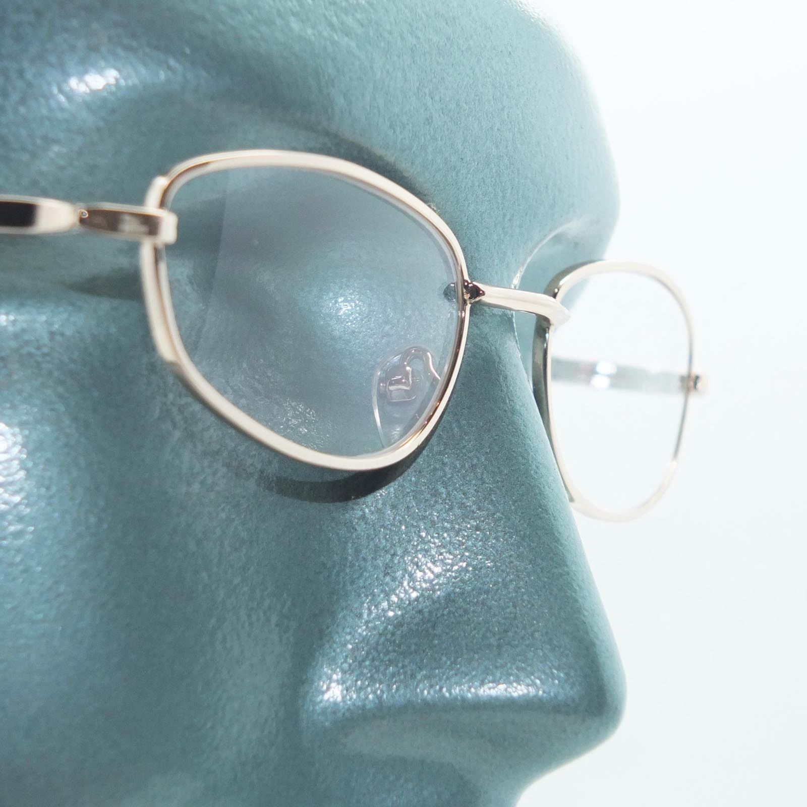 Primary image for Wire Rim Polished Gold Frame Reading Glasses Lightweight Small Lens +1.50