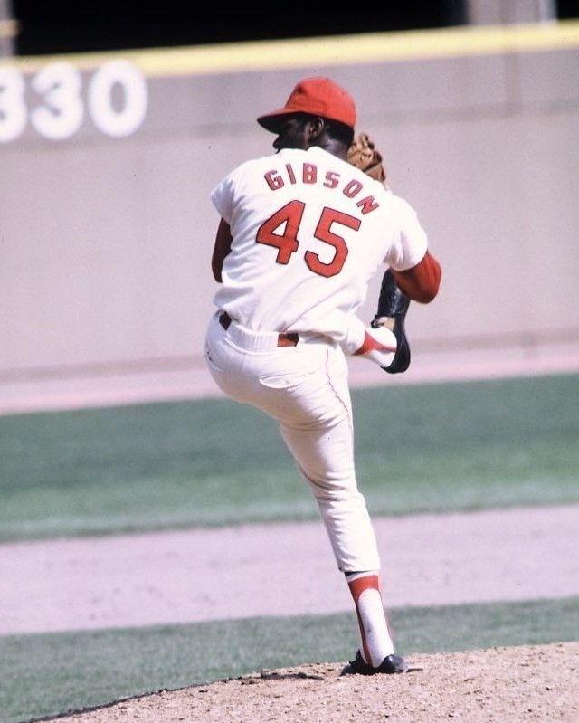 BOB GIBSON 8X10 PHOTO ST LOUIS CARDINALS BASEBALL PICTURE MLB