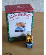 1998 Disney Hallmark Merry Miniatures Pluto's Coal Car  - $8.00