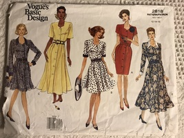 Vogue 2818 Semi fitted button front dress Basic Design uncut - $29.95