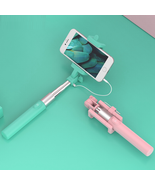 Mini Selfie Stick - Various Pastel Colors; Folds for Purses & Button Con... - $12.95