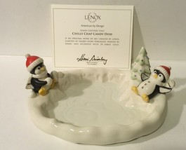 Lenox ~ Chilly Chap ~ Candy Dish American By Design, Penguins in the Snow - $14.01