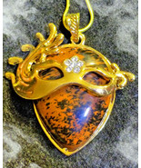 Haunted NECKLACE 3X LET YOUR BEAUTY SHINE ATTRACT LOVE MAGICK OBSIDIAN W... - $60.77