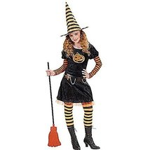 Girls Pumpkin Witch Child 140cm Costume Medium 8-10 Yrs (140cm) For Hall... - $56.79