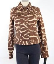 Lauren Ralph Lauren Button Front Animal Print Stretch Denim Jacket Women's NWT - $127.49