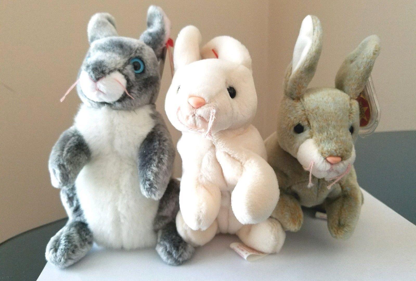 Easter Ty Beanie Baby Hopper MWMT Bunny 2000