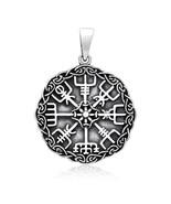 925 Sterling Silver Viking Vegvisir Compass Celtic Knotwork Legendary Pe... - $32.29